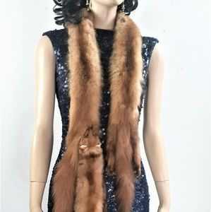 30s 40s extra long Sable Mink Wrap shawl collar